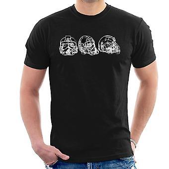 Opprinnelige Stormtrooper Imperial TIE Pilot hjelm abstrakte menn t-skjorte