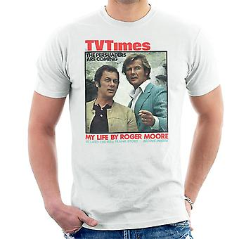 TV Times Tony Curtis Roger Moore amicalement 1971 couvre T-Shirt homme