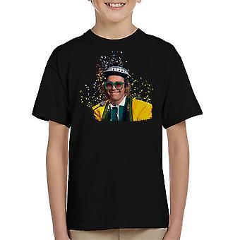 TV Times Elton John At The Piano 1977 Kid's T-Shirt