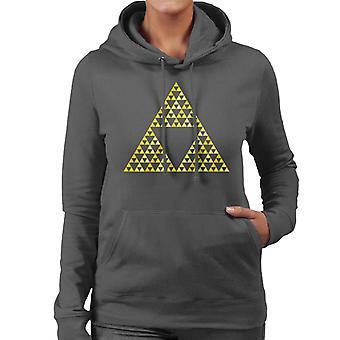 Legend of Zelda Rohkeus Viisaus Power Naiset&s Hupullinen Collegepaita