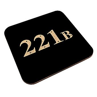 221B Baker Street Sherlock Holmes Address Coaster