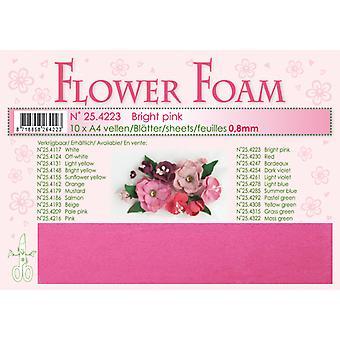 Leane Creatief Flower Foam Sheets A4 Bright Pink