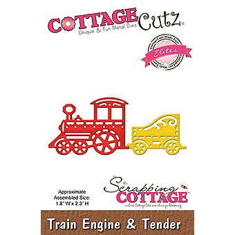 Scrapping Cottage CottageCutz Train Engine & Tender (Elites) (CCE-150)
