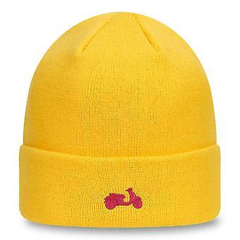Nowa era Minibike dzianinowa czapka z mankietem ~ Vespa żółty