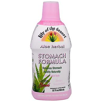 Lily of the Desert, Aloe Herbal, Stomach Formula, Mint, 32 fl oz (960 ml)