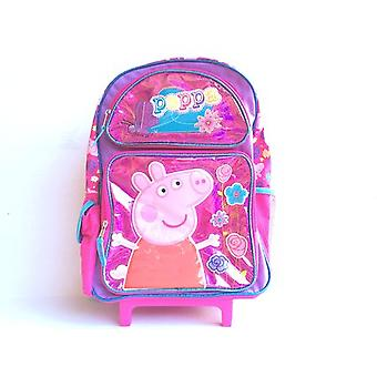 Large Rolling Backpack - Peppa Pig - Shine Pink New 654351