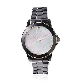EON 1962 Swiss Movement Water Resistance MOP Dial Diamond Studded Wrist Watch