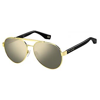 Sunglasses Unisex pilot robust gold/black slope
