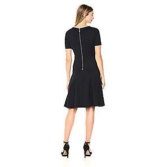 ELLEN TRACY Women's Seamed Knit Dress, Night Sky, XS