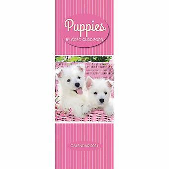 Otter House 2021 Slim Calendar-puppies