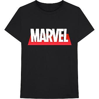 Svart Marvel Tegneserier Ut Boksen Logo Offisiell Tee T-Skjorte Unisex