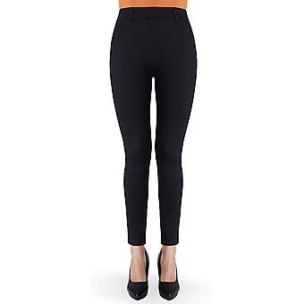 Bamans Women's Yoga Dress Pants Tummy Control Workout, Black-up, Size X-Large