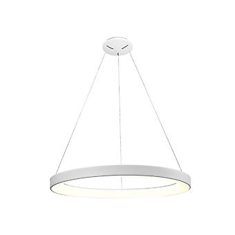 Dimbare Ring Plafond Hanger 90cm Rond 60W LED 3000K, 4200lm, Wit