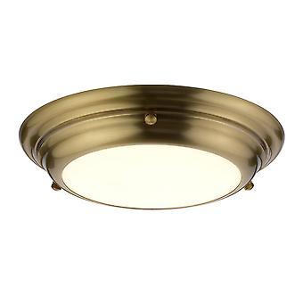 Elstead Welland - 1 Light Mini LED Flush Light - Laiton vieilli