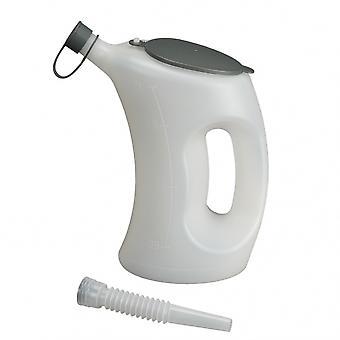 pourcan avec couvercle et bec flexible 2 litres