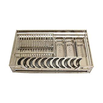 201/304 Stainless Steel, Double-deck- Pull-out Basket/drawer For Kitchen