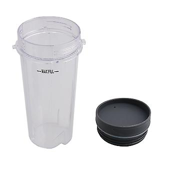 454ML Plastic Juicer Cup Mug with Lid for 600W 900W Mixer Container Cup