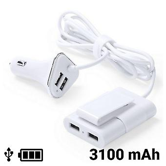 2-pack, USB car charger 3100mAh