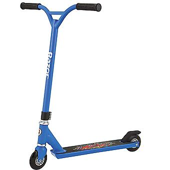 Razor beast scooter - blue, pro-style stamped steel, fixed riser style handlebar