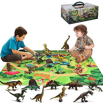 Jurassic Dinos World Forest Animal Action Dinosaurussen, Auto Doll Figuur Building