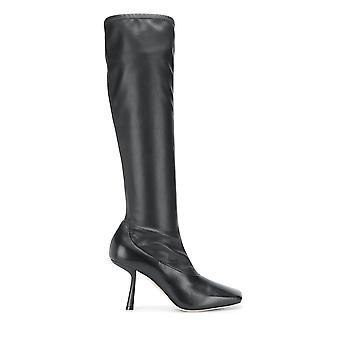 Jimmy Choo Myka85zzkblack Kvinder's Sorte læderstøvler