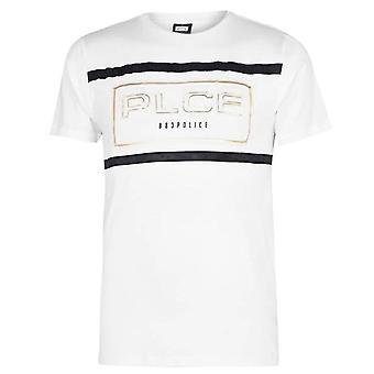 Polisen Aurum 7160 3d präglad Guld Logo Halvärma T-shirt