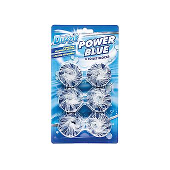 Duzzit Power Blue Toilet Block 6 Pack DZT1036-36