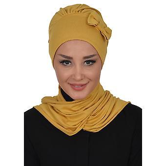Bianca - Hnědá bavlna turban