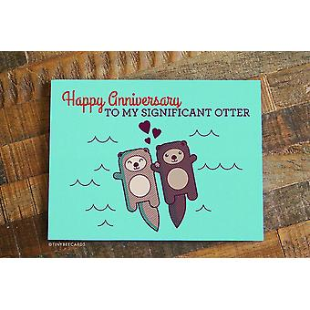 """significant Otter"" - Cute Anniversary Card"