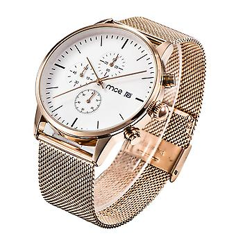 Multi-functies Modieuze mannen polshorloge full steel klok Quartz Horloge