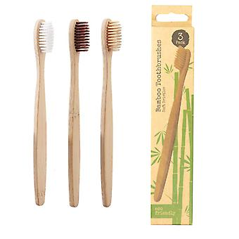Eco Friendly & Biodegradable Family Pack Of 3 Bamboo Toothbrush