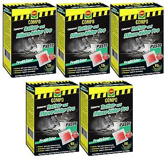 Sparset: 5 x COMPO Cumarax® Ratten- und Mäuse-Köder Pro, 240 g