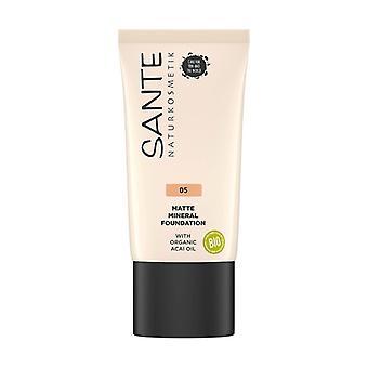 Matte mineral fluid makeup 05 Warm Honey 1,14 g