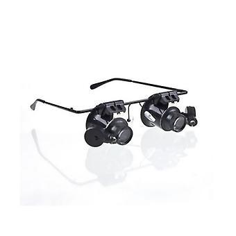 Vergrößerung Augengläser 20x Lupenlinse mit LED-Licht für Reparatur/Vergrößerung