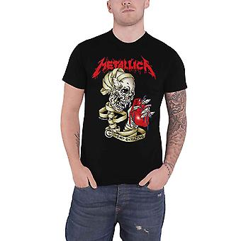 Metallica T Shirt Heart Explosive Band Logo novo Official Mens Black