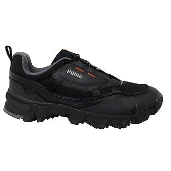 Puma Trailfox Overland MTS Grid Black Low Lace Up Mens Trainers 371477 01