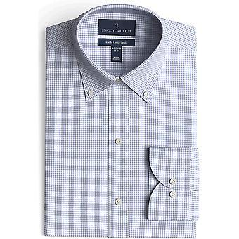 BUTTONED DOWN Miehet's Slim Fit button kaulus kuvio ei-rauta mekko paita, harmaa...