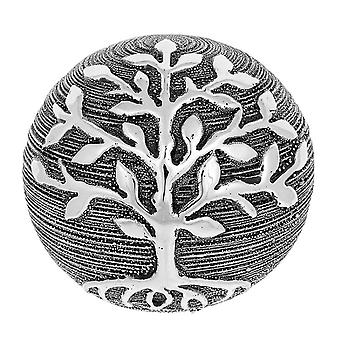 Tree of Life Decor Ball Gunmetal Ornament