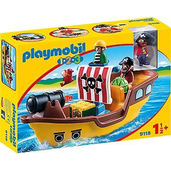 Playmobil 1.2.3 piratskepp