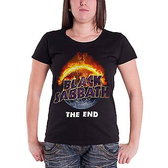 Black Sabbath T Shirt Womens The End tour 2016 new Official Black skinny fit