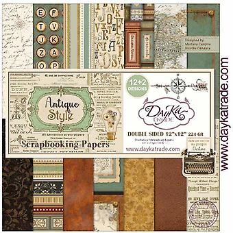 DayKa Trade Antique Style 12x12 Inch Paper Pack