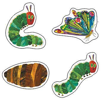 El Very Hungry Caterpillar Cut-Outs Grado Pk-8, Paquete de 48