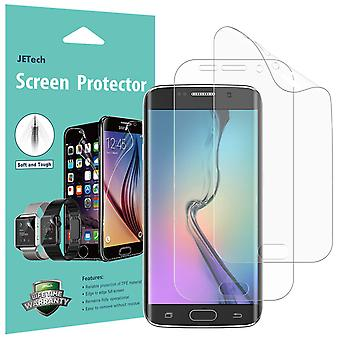 Jetech screen protector for samsung galaxy s6 edge, tpe ultra hd film, full screen coverage, 2-pack