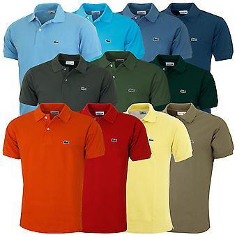 Lacoste Mens L1212 Cotton Short Sleeve Classic Fit Signature Croc Polo Shirt