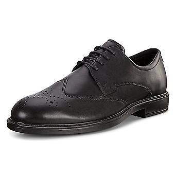 ECCO 640524 فيتروس الثالث سانتياغو - الرجال & أبوس؛ ق الدانتيل متابعة الأحذية الرسمية Brogue في الأسود