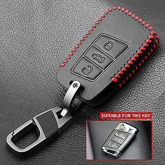 Ny læder Flip bil nøgle sag