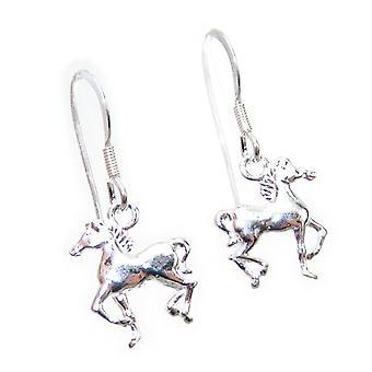 Hevonen pienet Sterling hopea korvakorut .925 X 1 pari hevosia pisaroja