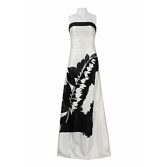 Printed Strapless Gown With A Stole