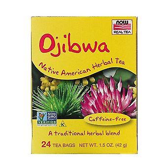 Ora cibi, tè vero, Ojibwa, senza caffeina, 24 bustine di tè, 42 g