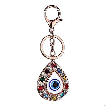 Vintage Crystal Blue Evil Eye Charm Keychain Rings Holder Sac à main Buckle Pend